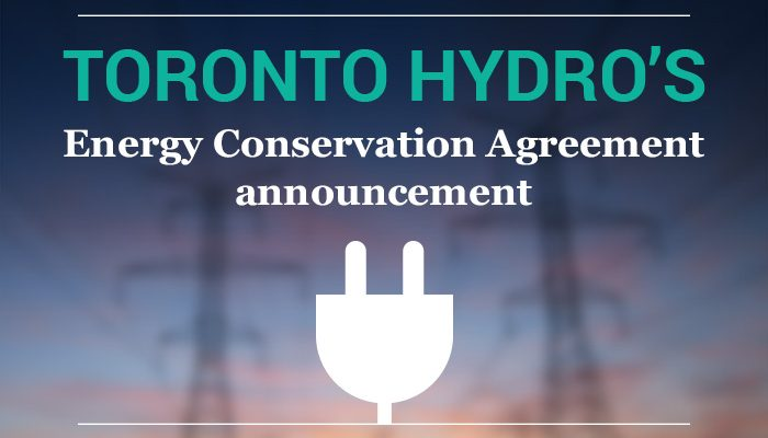 Toronto Hydro's Energy Conservation Agreement
