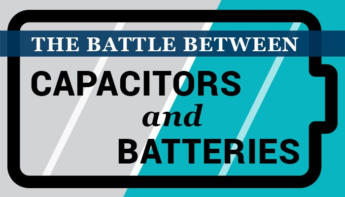 The battle between capacitors and batteries